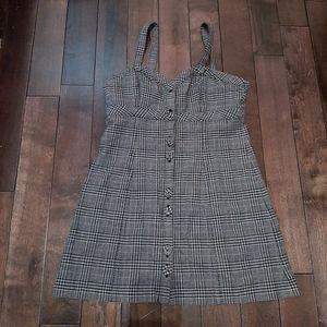 Aritzia Talula Plaid Button Up Dress Size 8